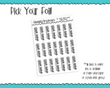 Foiled Do Some Damn Work Reminder Typography Planner Stickers for any Planner or Insert - Adorably Amy Designs