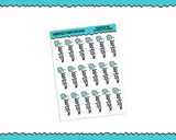 Doodled Graphics Grade School Typography Planner Stickers for any Planner or Insert - Adorably Amy Designs