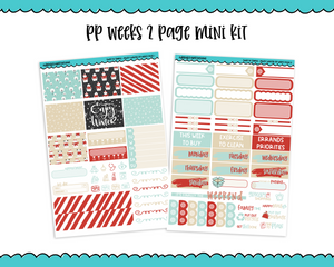PP Weeks Sweet n Simple Enjoy Winter Snow and Winter Patterns Weekly Kit sized for PP Weeks Planner or ANY Vertical Insert - Adorably Amy Designs