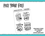 Foiled Clear Full Box Overlay Fall-Autumn Quotes Planner Stickers for any Planner or Insert - Adorably Amy Designs
