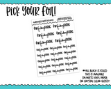 Foiled Hand Lettered FanF*ckingTastic Snarky Sweary Planner Stickers for any Planner or Insert - Adorably Amy Designs