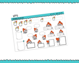 Planner Girls Character Stickers Fill In Boxes Appointment Labels Boxes Sticky Notes Planner Stickers for any Planner or Insert - Adorably Amy Designs