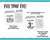 Foiled Clear Full Box First Day of School and Glitter Header Overlay Combo Set Planner Stickers for any Planner or Insert - Adorably Amy Designs