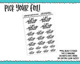 Foiled Hand Lettered Give Up on Today Planner Stickers for any Planner or Insert - Adorably Amy Designs