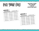 Foiled Tiny Text Series -   HOA Fees Checklist Size Planner Stickers for any Planner or Insert