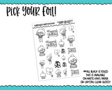 Foiled Planner Girl Myrtle Happy Birthday Planner Stickers for any Planner or Insert - Adorably Amy Designs