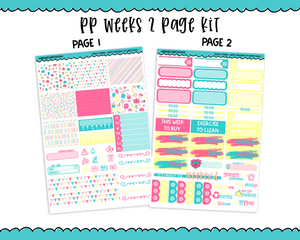 PP Weeks Sweet n Simple Happy Birthday Patterns Weekly Kit sized for PP Weeks Planner or ANY Vertical Insert - Adorably Amy Designs