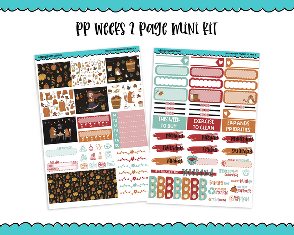 PP Weeks Hello Autumn Weekly Kit sized for PP Weeks Planner or ANY Vertical Insert