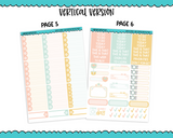 Vertical Sweet n Simple Hello Spring Patterns Planner Sticker Kit for Vertical Standard Size Planners or Inserts - Adorably Amy Designs