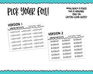 Foiled Tiny Text Series -   Internet Checklist Size Planner Stickers for any Planner or Insert