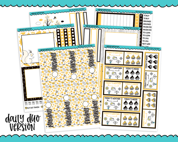 Daily Duo Into the Wild Autumn Themed Weekly Planner Sticker Kit for Daily Duo Planner