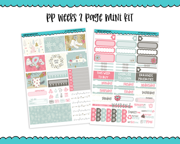 PP Weeks Joy and Love Winter Themed Weekly Kit sized for PP Weeks Planner or ANY Vertical Insert