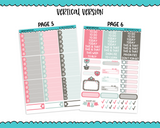 Vertical Joy and Love Winter Themed Planner Sticker Kit for Vertical Standard Size Planners or Inserts - Adorably Amy Designs