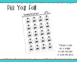 Foiled Karate Reminder Tracker Planner Stickers for any Planner or Insert - Adorably Amy Designs