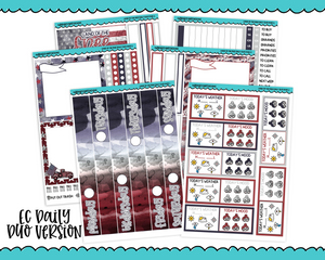 Daily Duo Land of the Free Fourth of July Independence Day Inspired Weekly Planner Sticker Kit for Daily Duo Planner - Adorably Amy Designs