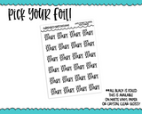 Foiled School Late Start Reminder Typography Planner Stickers for Erin Condren, Plum Planner, Inkwell Press, or Any Size Planners - Adorably Amy Designs