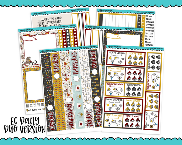 Daily Duo Magic Wizard Weekly Planner Sticker Kit for Daily Duo Planner - Adorably Amy Designs