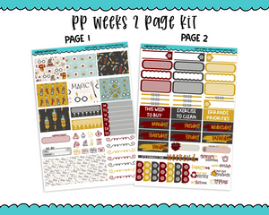 PP Weeks Sweet n Simple Magic Wizard Patterns Weekly Kit sized for PP Weeks Planner or ANY Vertical Insert - Adorably Amy Designs