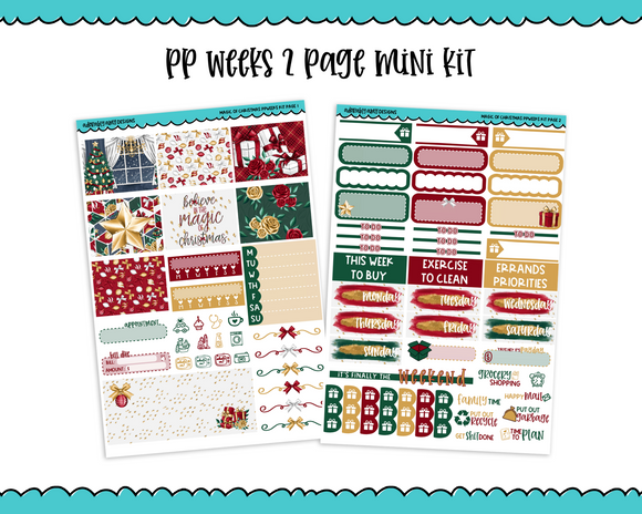 PP Weeks Magic of Christmas Holiday Fancy Traditional Christmas Themed Weekly Kit sized for PP Weeks Planner or ANY Vertical Insert