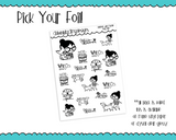 Foiled Planner Girl Myrtle Dog Life Dog Lover Planner Stickers for any Planner or Insert - Adorably Amy Designs