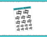 Hand Lettered It's Okay to Not Be Okay Planner Stickers for any Planner or Insert - Adorably Amy Designs