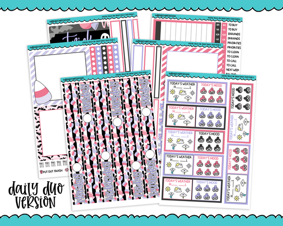 Daily Duo Pastel Trick or Treat Halloween Themed Weekly Planner Sticker Kit for Daily Duo Planner