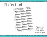 Foiled Pick Up Groceries Reminder Typography Planner Stickers for any Planner or Insert - Adorably Amy Designs