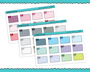 Rainbow Polkadot Half Box Reminder Planner Stickers for any Planner or Insert - Adorably Amy Designs