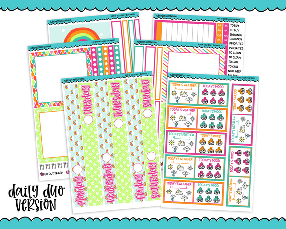 Daily Duo Pot of Gold Weekly Planner Sticker Kit for Daily Duo Planner