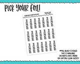 Foiled School Project Due Reminder Typography Planner Stickers for any Planner or Insert - Adorably Amy Designs