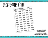 Foiled School Read: Reminder Typography Planner Stickers for any Planner or Insert - Adorably Amy Designs