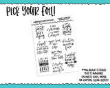 Foiled Snarky Workout Quotes Sampler Planner Stickers for any Planner or Insert - Adorably Amy Designs
