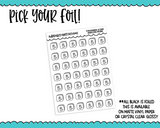 Foiled Amazon Prime Icon Reminder Tracker Planner Stickers for any Planner or Insert