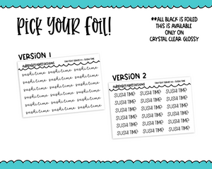 Foiled Tiny Text Series - Sushi Time Checklist Size Planner Stickers for any Planner or Insert