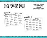 Foiled Tiny Text Series - Hulu Checklist Size Planner Stickers for any Planner or Insert - Adorably Amy Designs