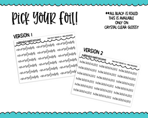 Foiled Tiny Text Series - New Releases Checklist Size Planner Stickers for any Planner or Insert