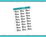 School Early Release Typography Reminder Planner Stickers for any Planner or Insert - Adorably Amy Designs
