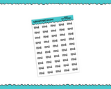 School Read: Typography Reminder Planner Stickers for any Planner or Insert - Adorably Amy Designs