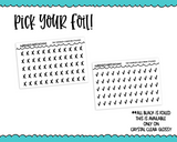 Foiled Tiny Doodled Checkmarks or Tiny Doodled X's Planner Stickers for Hobonichi Weeks, Erin Condren, Happy Planner or ANY size planner
