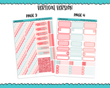Vertical Sweet n Simple Tweet Love Pastel Valentine and Love Patterns Planner Sticker Kit for Vertical Standard Size Planners or Inserts - Adorably Amy Designs