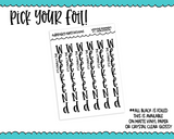 Foiled Weekend Banners Vertical or Horizontal Planner Stickers for any Planner or Insert - Adorably Amy Designs