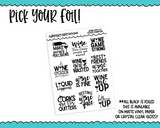 Foiled Typography Wine Lover V2 Word Art Planner Stickers for any Planner or Insert - Adorably Amy Designs