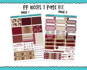 PP Weeks Sweet n Simple Wine A Little Weekly Kit sized for PP Weeks Planner or ANY Vertical Insert - Adorably Amy Designs