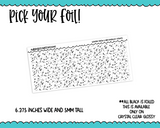Foiled Winter Snow Dots MM OR 10 MM Clear Overlay Planner Sticker Strips for any Planner or Insert - Adorably Amy Designs