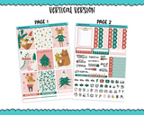 Vertical Woodland Christmas Planner Sticker Kit for Vertical Standard Size Planners or Inserts