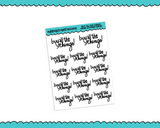 Hand Lettered Buy All the Things Planner Stickers for any Planner or Insert - Adorably Amy Designs