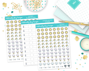 Transparent Weather Stickers for Erin Condren, Hobonichi Weeks, Plum Planner, Inkwell Press or Filofax or Personal Planners