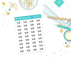 Hand Lettered To Do Reminder Planner Stickers for Erin Condren, Plum Planner, Inkwell Press, Filofax, Kikki K or Any Size Planners - Adorably Amy Designs