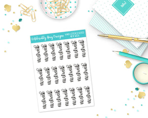 Hand Lettered Next Week Planner Stickers for Erin Condren, Plum Planner, Inkwell Press, Filofax, Kikki K or Any Size Planners - Adorably Amy Designs