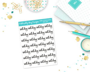 Hand Lettered Sick Day Planner Stickers for any Planner or Insert - Adorably Amy Designs